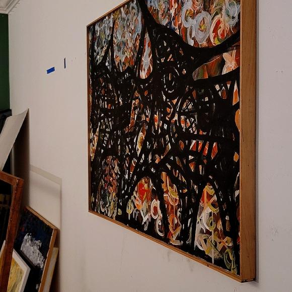 """Original Wall Art """"Patxikotxu"""" 20""""×30""""×2"""" Framed"""